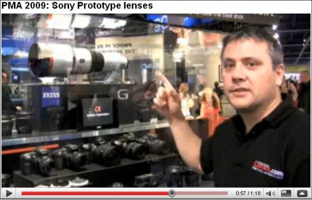 Sony stand at PMA 2009