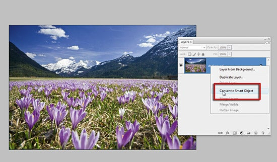 Non Destructive JPEG sharpen with Smart Object in PhotoShop