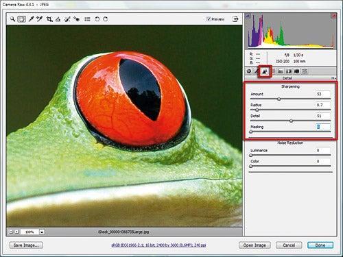 Sharpening in Adobe Camera Raw