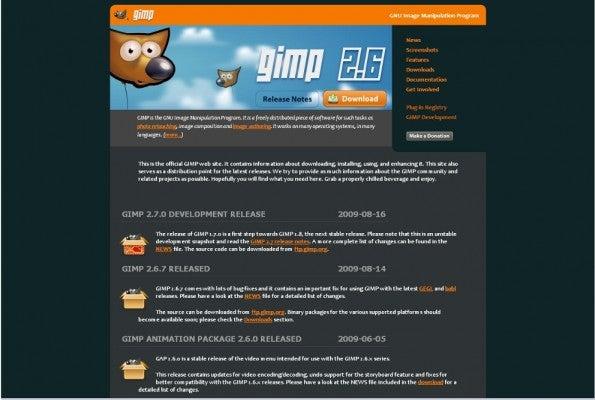 GIMP website