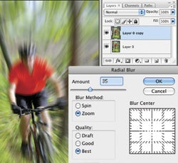 Create a Zoom Burst with your DSLR or in Photoshop