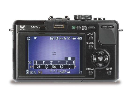 Panasonic DMC-GF1 back   News   What Digital Camera