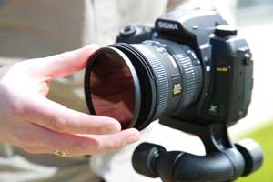 The common solution is to use an infrared filter