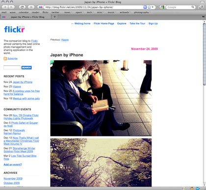 flickr blog iphone japan   Blog   What Digital Camera