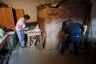 Off-centre composition: making and baking Jersey Cabbage Loaves, photograph (c) Jon Tarrant.