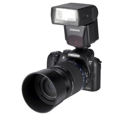 Samsung NX10 with hotshoe flash | News | What Digital Camera