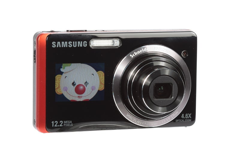 Samsung ST550 review product image children mode front LCD screen on