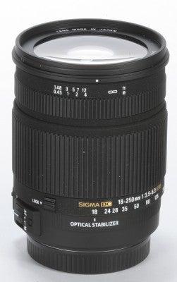 Sigma 18-250mm DC SLD OS HSM lens