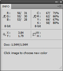 Eyedropper Tonal Control Info Panel