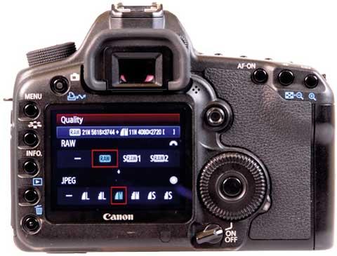 Know Your Camera - Setting Up - Canon screen