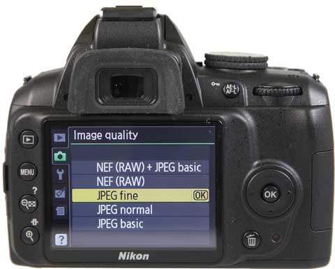 Know Your Camera - Setting Up - Nikon screen