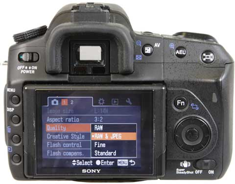 Know Your Camera - Setting Up - Sony screen