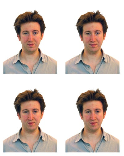 How to shoot passport photos at home - final passport images