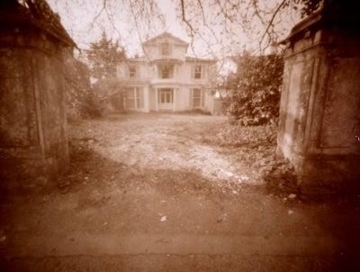 Pinhole image taken on 5x4 inch Polaroid film