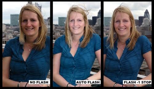 Auto fill flash