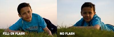 Flash vs no flash