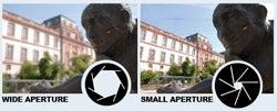 Wide aperture vs small aperture