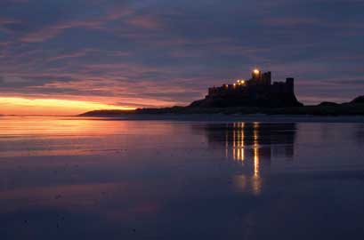 British Heritage - Bamburgh Castle in Northumberland