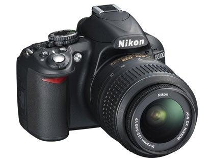 Nikon D3100 side angled