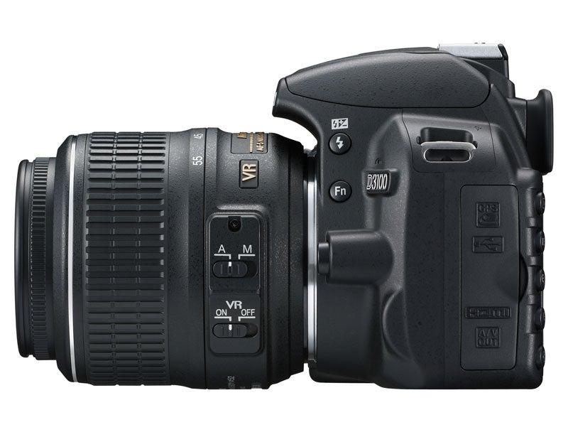Nikon D3100 side view