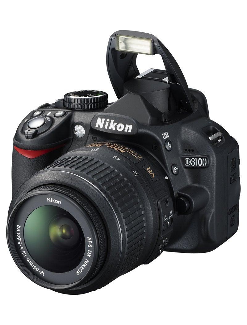 Nikon D3100 with flash