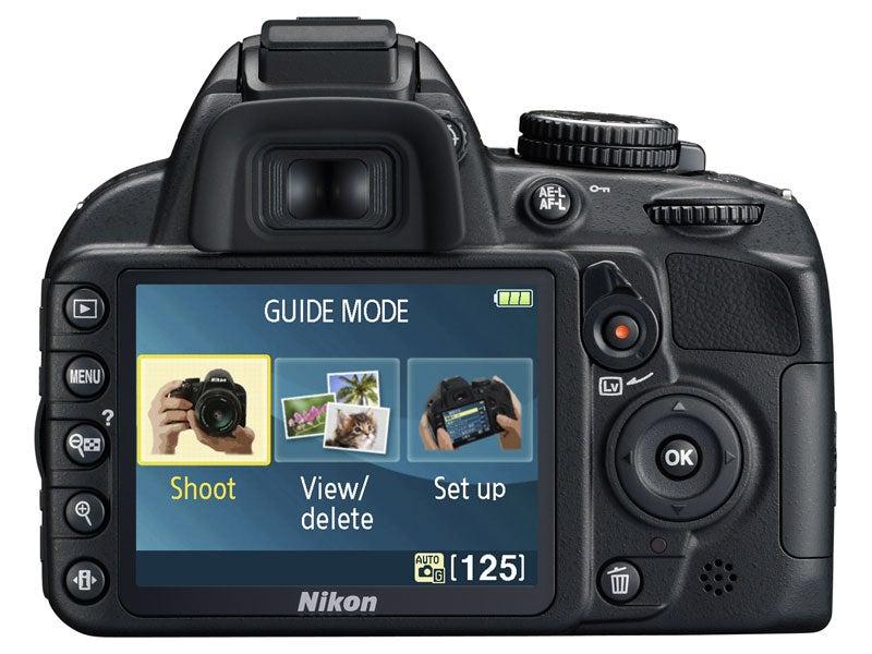 Nikon D3100 rear view