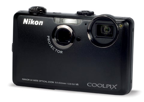 Nikon S1100pj front 3q view