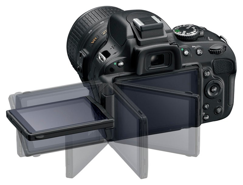 Nikon D5100 product image rear screen swivel demo