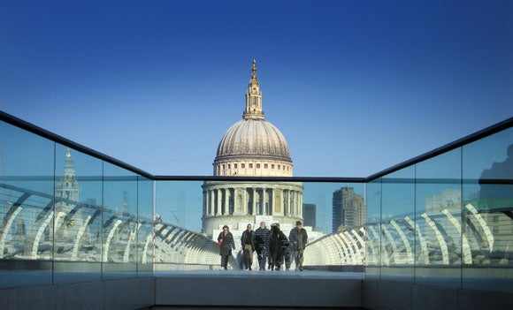 St Pauls and Millenium Bridge Urban Landscape