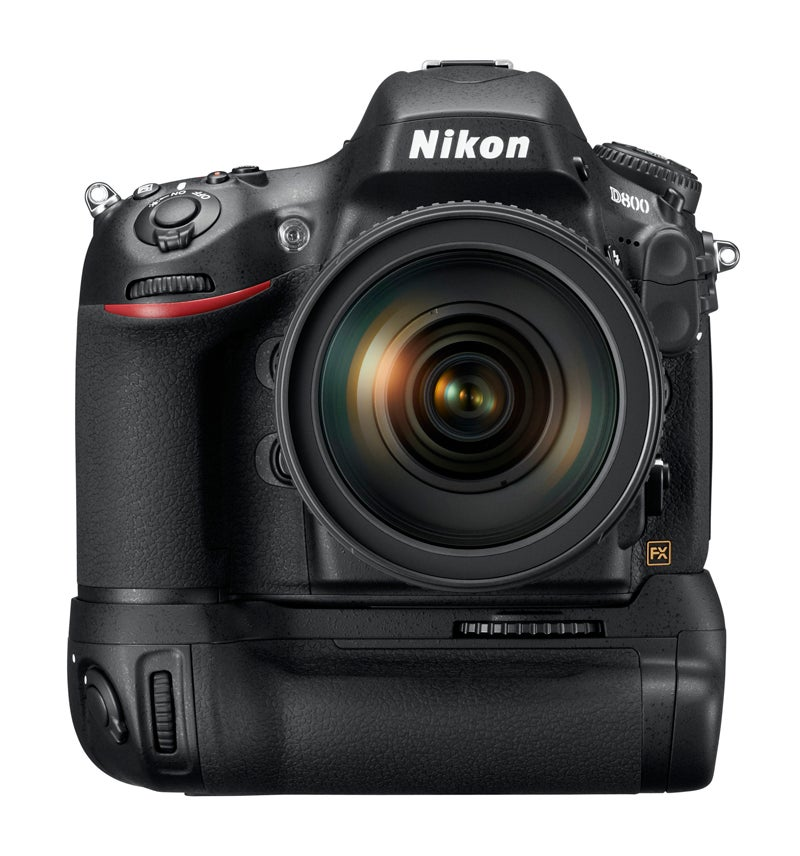 Nikon D800 with battery