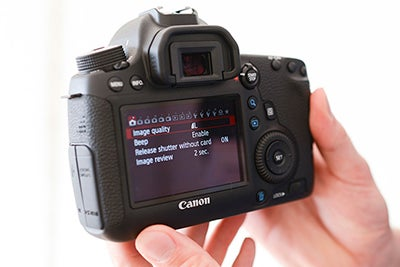 Canon 6D LCD screen