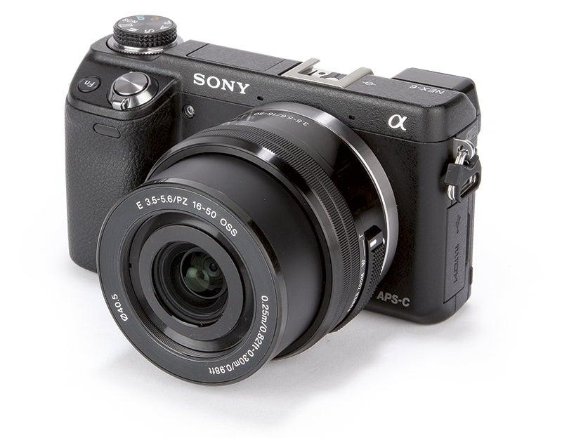 Sony NEX-6 front angle