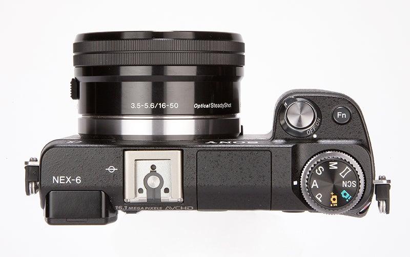 Sony NEX-6 top view