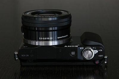 Sony NEX-3N top plate