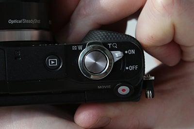 sony nex 3n button detail