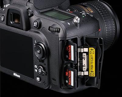 Nikon D7100 card slots