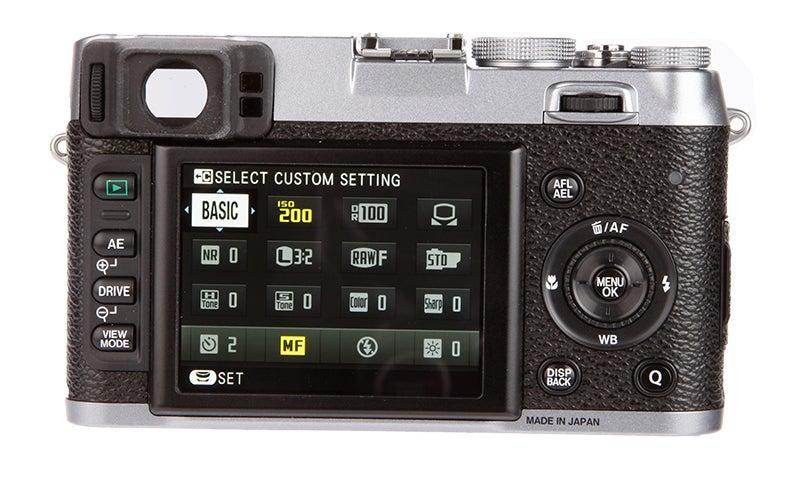Fujifilm X100S rear screen