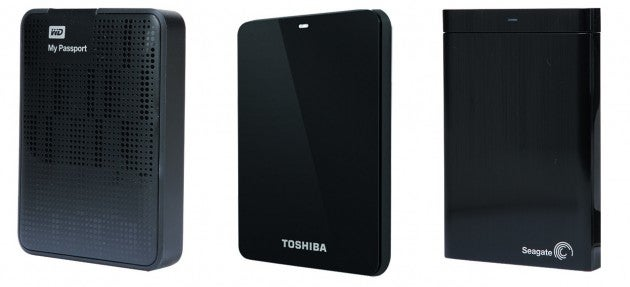 Western Digital My Passport, Toshiba Stor.e Basics, Seagate Backup Plus Portable hard drives