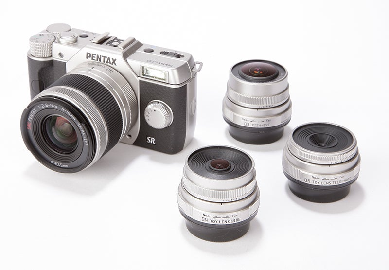 Pentax Q10 with lenses
