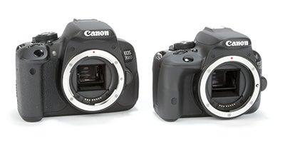 Canon EOS 100D / EOS 700D comparison