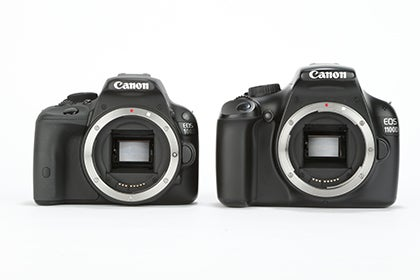 Canon EOS 100D / EOS 1100D comparison 1
