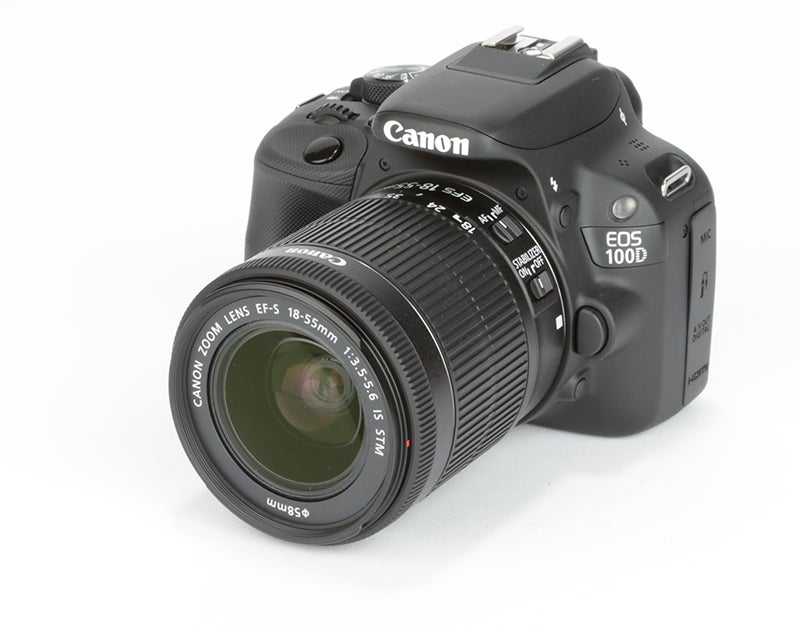 Canon EOS 100D angled