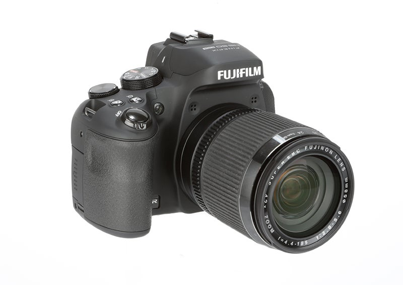 Fujifilm HS50 EXR front angle