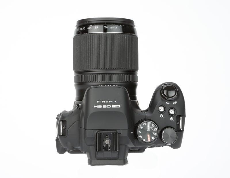Fujifilm HS50 EXR top view