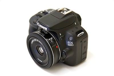 Canon EOS 100D front 3/4