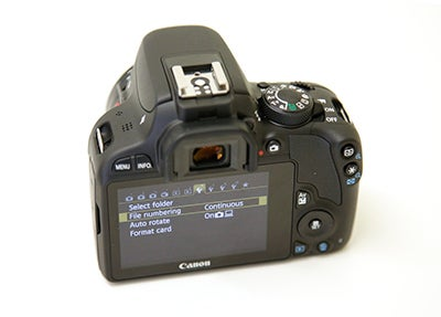 Canon EOS 100D rear hands on