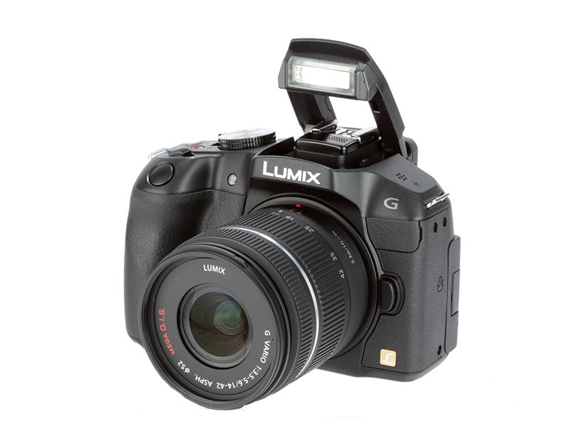 Panasonic Lumix G6 Review - front flash up