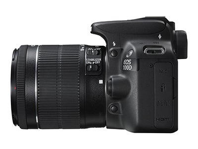 Canon EOS 100D side view