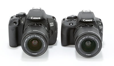 Canon EOS 100D vs EOS 700D comparison image