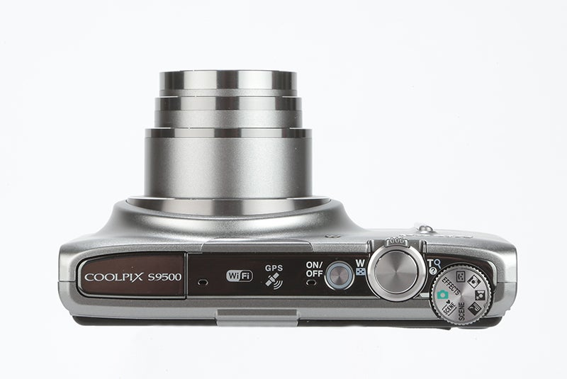Nikon COOLPIX S9500 Review -  top plate
